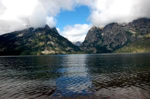 Looking across Jenny Lake at Cascade Canyon
